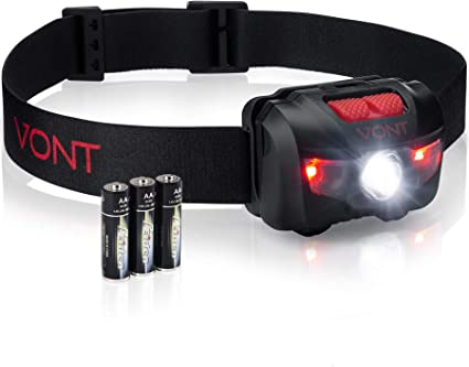 12 LED Headlamp HeadLight with Adjustable Strap Set of 2
