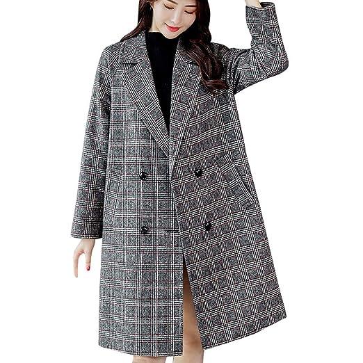 Amazon.com: Jussunnx Women Fashion Plaid Vintage Winter Warm Long Sleeve Button Woolen Jacket Coat: Clothing