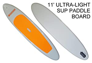 11' Orange Top Ultra Light Inflatable Stand Up Paddle Board SUP
