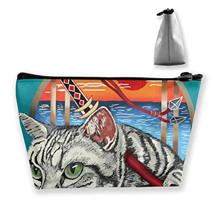 Sharp Shirter Ninja Cat Travel Make Up Bags Organizer Bolsa ...