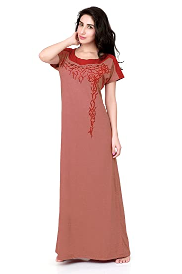 e484612423 Honeydew Wave Gj Coral Cotton Nighty for Women - Free Size  Amazon ...