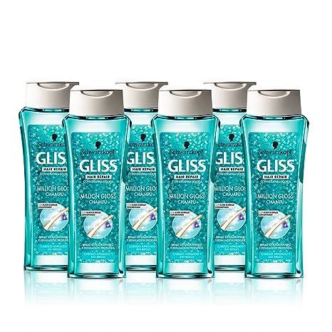 Gliss - Champú Million Gloss - 250ml (pack de 6) Total: 1500ml