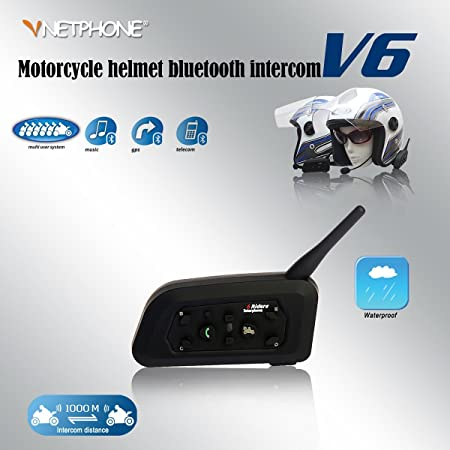 2x V6 Bt Intercom Bluetooth Interphone 1200m Range 6 Elektronik