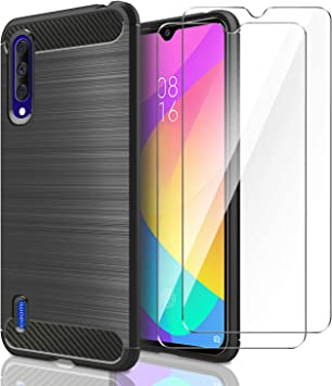 AROYI Funda Xiaomi Mi 9 Lite, [2 Pack] Cristal Templado, Carcasa ...