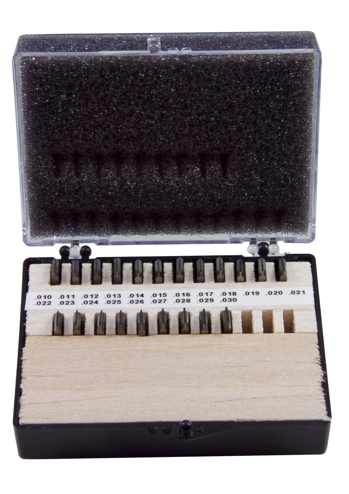 THINBIT SSET2D2, 0.010''-0.030'', Carbide, 21 Piece, 0.001'' Increment Insert Set for Steel, Cast Iron and Stainless Steel with Interrupted Cuts