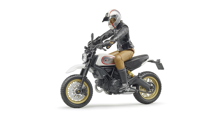 Bruder 63051 Scrambler Ducati Café Desert Sled with Driver Scaled Model Vehicles, Multi-Colour