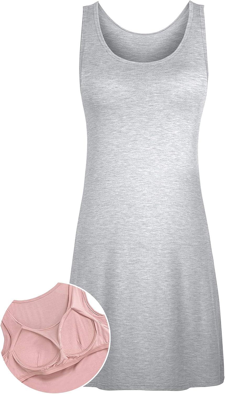 DYLH Donna Sottoveste con Spalline Regolabili Sottovesti con Reggiseno Camicie e N/églig/é Camicia da Notte Donna Lingerie 36-54