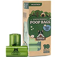 Pogi's Poop Bags - 10 Rolls (150 Bags) - Large, Biodegradable, Scented, Leak-Proof Pet Waste Bags
