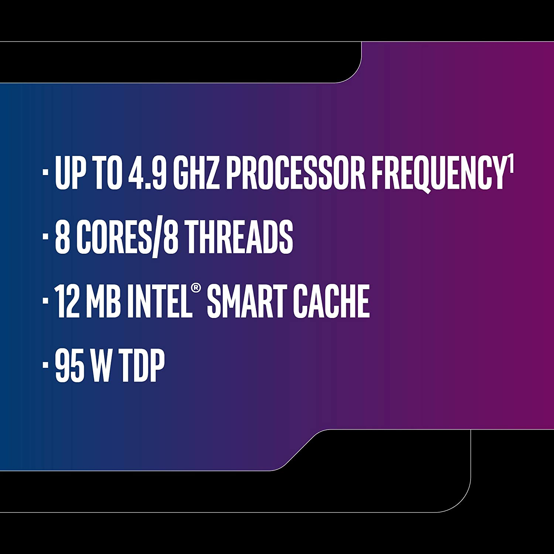 Intel Core i7-9700K Desktop Processor 8 Cores up to 4 9 GHz Turbo unlocked  LGA1151 300 Series 95W