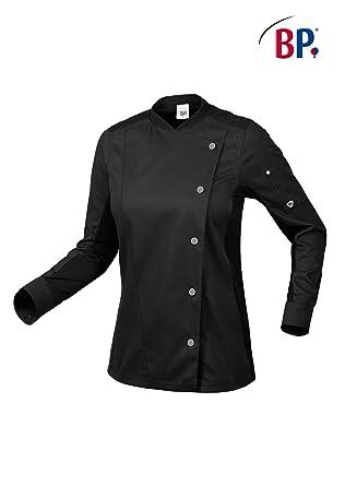 BP 1594-485-32-S - Chaqueta de cocinero para mujer, manga larga, insertos piqué y sistema de elevación de brazos, mezcla de tela, 215,00 g/m2, color negro: Amazon.es: Industria, empresas y ciencia