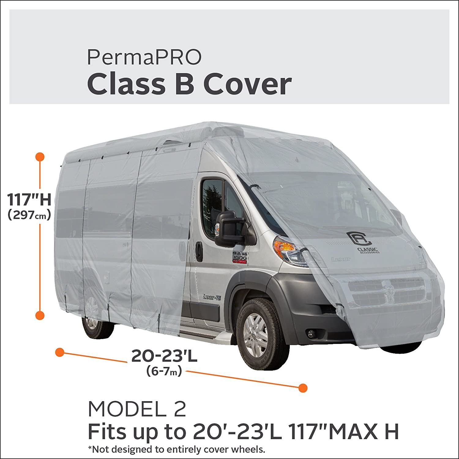 80-413-161001-RT Fits 23-25 RVs Classic Accessories Overdrive PermaPRO Deluxe Class B RV Cover Lightweight Ripstop Fabric with RV Cover