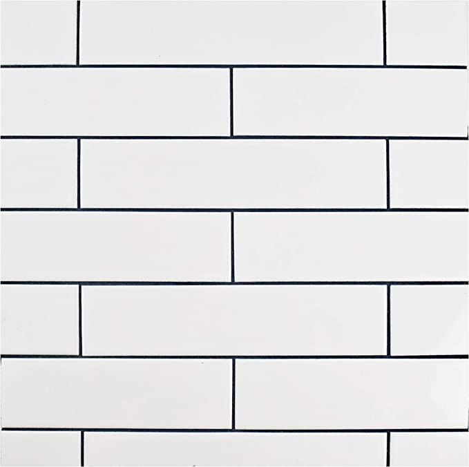 1.75 x 7.75 SomerTile FXLMSHSW Retro Soho Subway Porcelain Floor and Wall Tile White