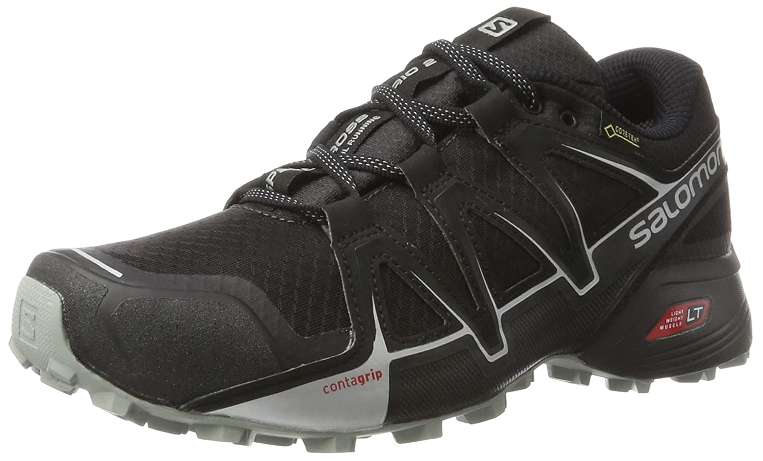 Salomon Herren Speedcross Vario 2 GTX Traillaufschuhe  42 2/3 EU|Schwarz (Phantom/Black/Monument)
