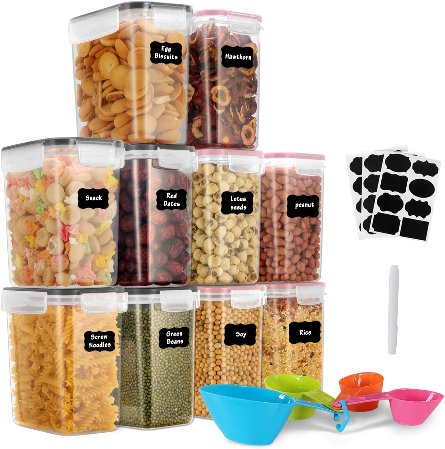 Sealed Vorratsdose Lebensmittel Transparentes Vorratsbeh/älter mit Deckel Snap-in Versiegelter Tank Aufbewahrungsglas Lagertanks Frischhaltendosen Vorratsdosen Rose Comie Aufbewahrungsbox