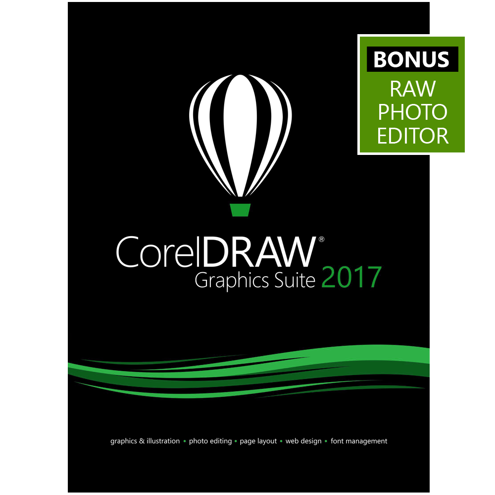 CorelDRAW Graphics Suite 2017 - Amazon Exclusive - Includes RAW Photo Editor [Download]