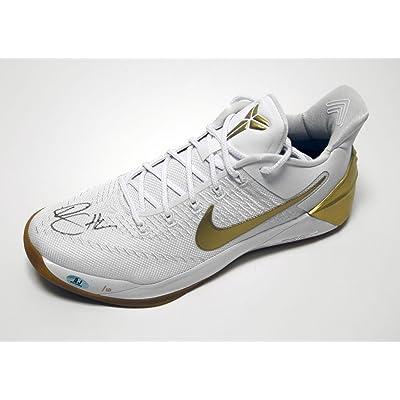 1ba888f7af0b Demar DeRozan Autographed Nike Kobe Zoom White Gold Basketball Shoe LE 10 -  Autographed NBA