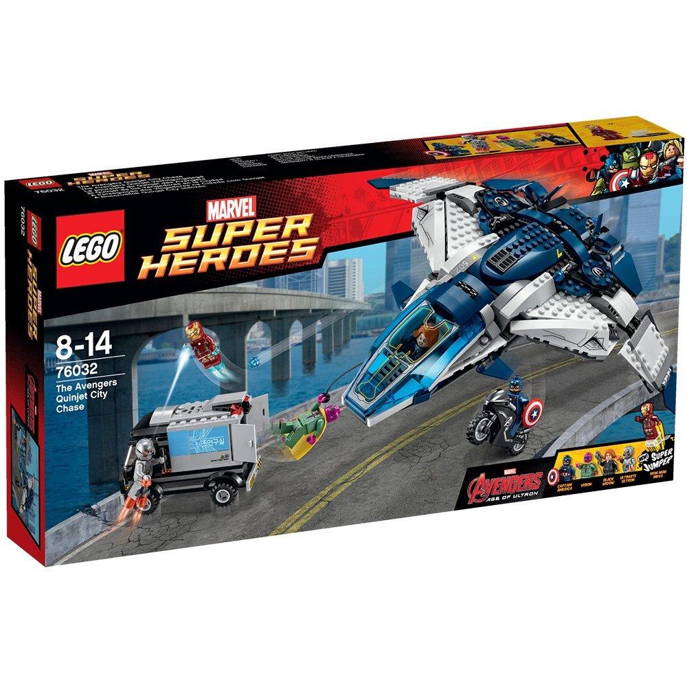 La Lego Marvel 76032 Avengers Du Heroes Des Super Poursuite Quinjet WdCxBroe