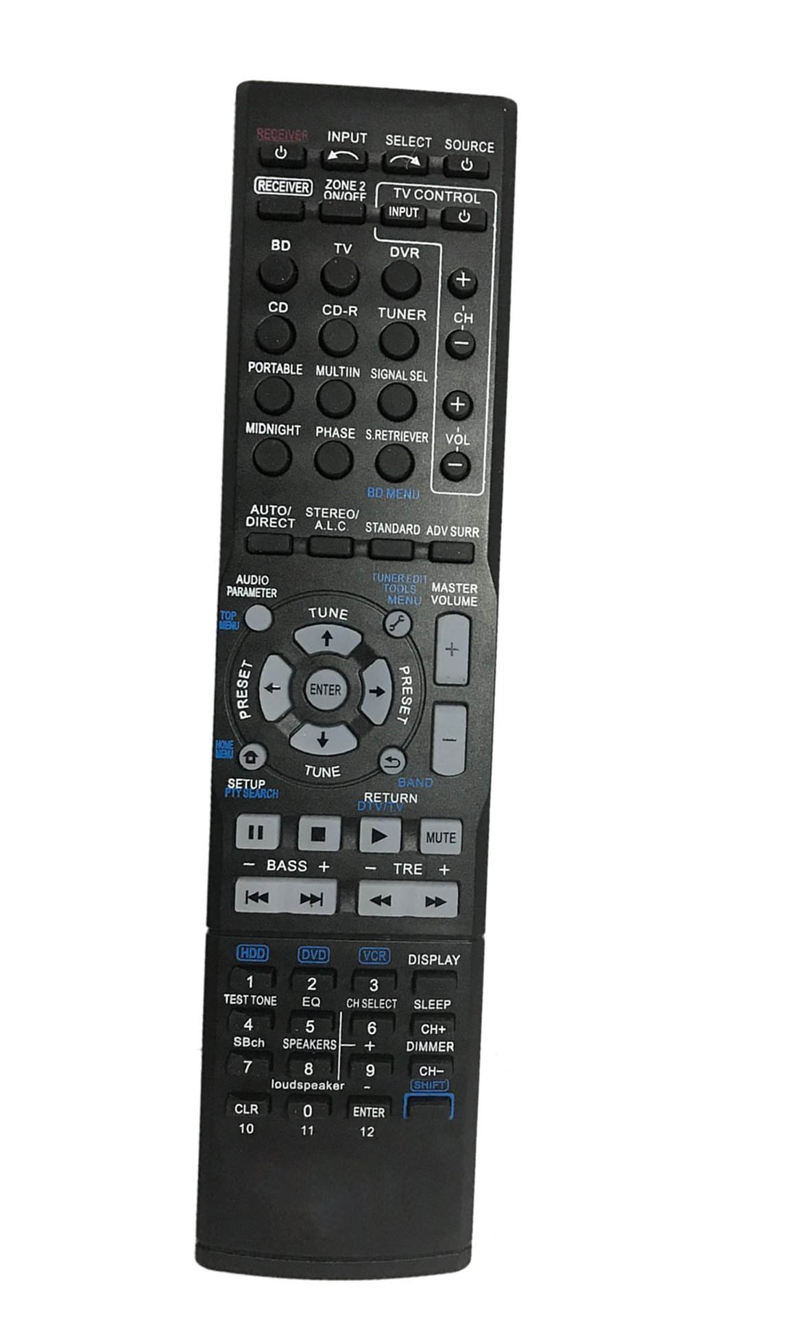 Replaced Remote Control Compatible for Pioneer VSX-520 AXD7632 VSX-522-K VSX-1024 VSX-1122-K Home Theater AV A/V Audio/Video Receiver System by JustFine
