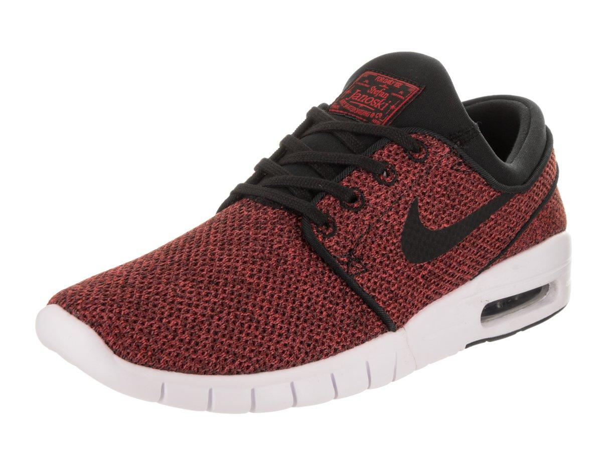 Nike Men's Stefan Janoski Max Track Red/Black-cedarSneakers - 8 D(M) US