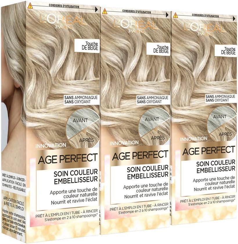LOréal Paris Age Perfect Cuidado Color Embellecedor Toque Beige 80 ml – Lote de 3