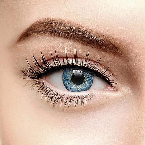 Farbige Kontaktlinsen Ohne Stärke Dusk Blau (90 Tage)
