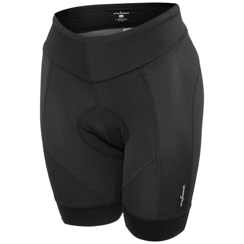 Shebeest Women's Century Elite Cycle Short (Black, X-Large)