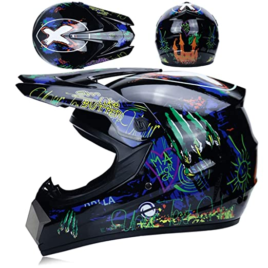 Integral Moto Casco Jet Helmet with Adjustable To Block Rain,B,XL ...