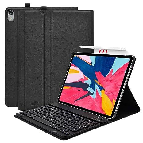 """COO Funda con Teclado iPad Pro 11, Funda iPad 11"""" con Ranura de Lápiz"""