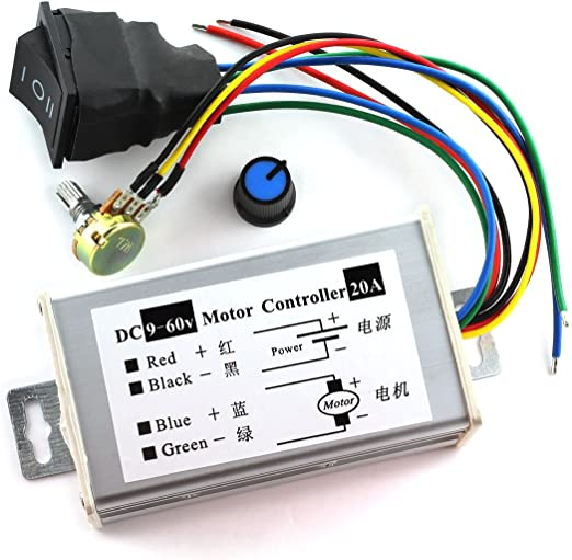 DC 6-60V 30A PWM DC Motor Speed Regulator High Power Speed Con