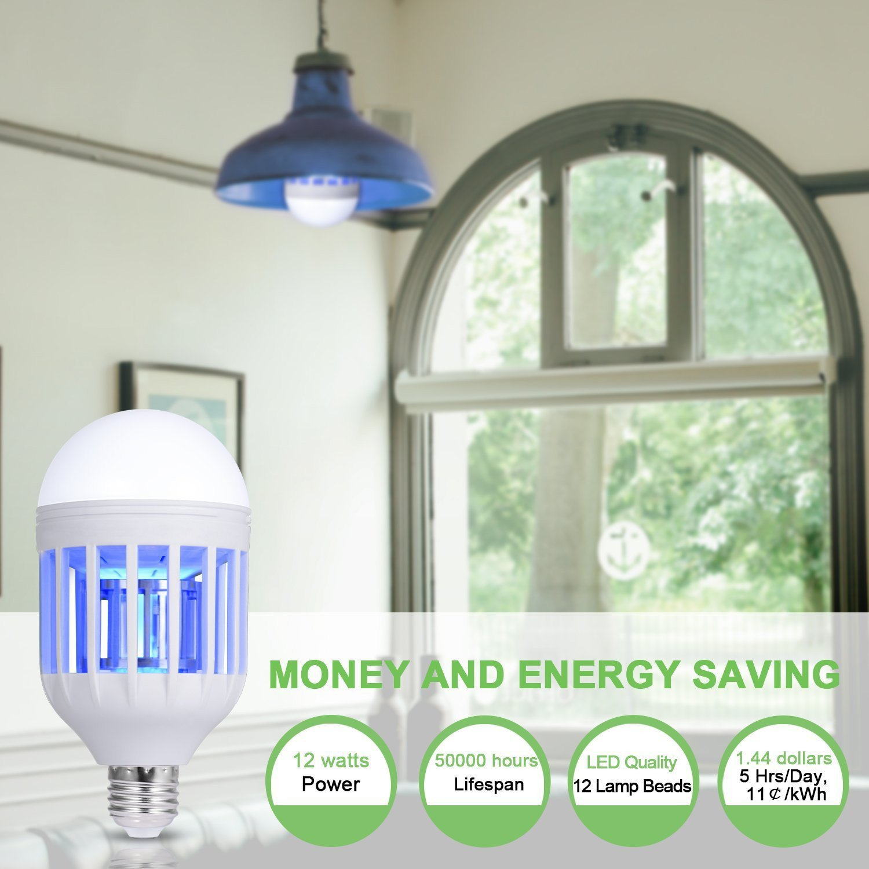 Yezijin 2Pcs LED Night Lamp Suit for Indoor Outdoor Garden White Apply to E26//E27 Lamp Holder