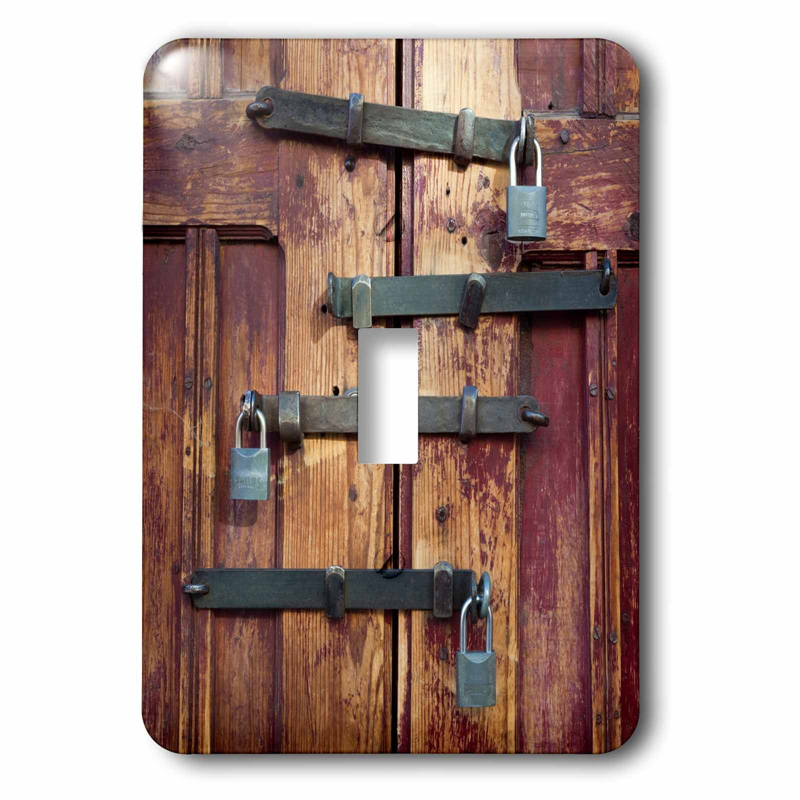3dRose lsp_188399_1 Mexico, San Miguel De Allende. Detail Of Wooden Door with Four Locks. - single Toggle Switch