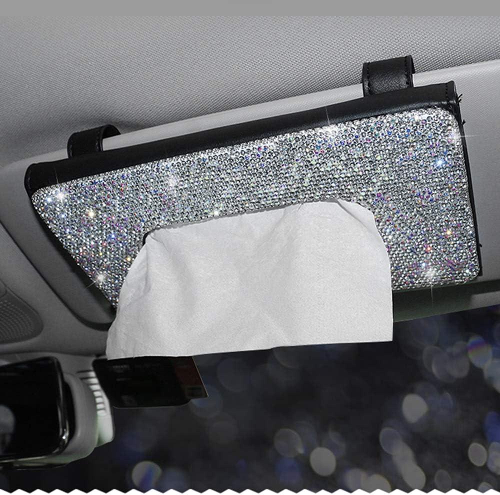 Dotesy Bling Bling Bling Auto Visier Taschentuchhalter Leder Kristall Papier Handtuch Cover Case Für Frauen Dt Cswc05 Auto