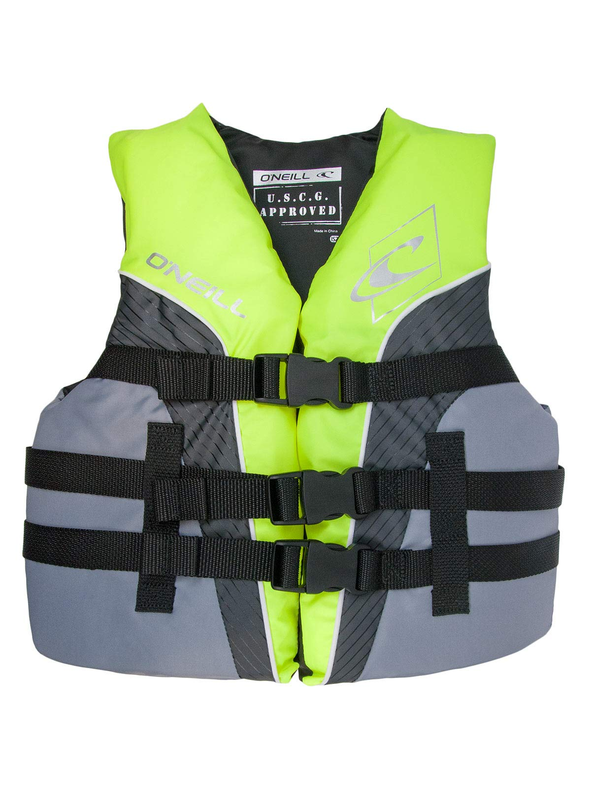 O'Neill Superlite Youth USCG Life Vest Lime/Graphite/Smoke (4725)