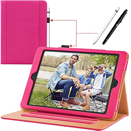 Ipad 9.7 Case 2018 Premium Leather Folio Stand Cover Auto Wake Sleep-purple With The Best Service Cases, Covers, Keyboard Folios