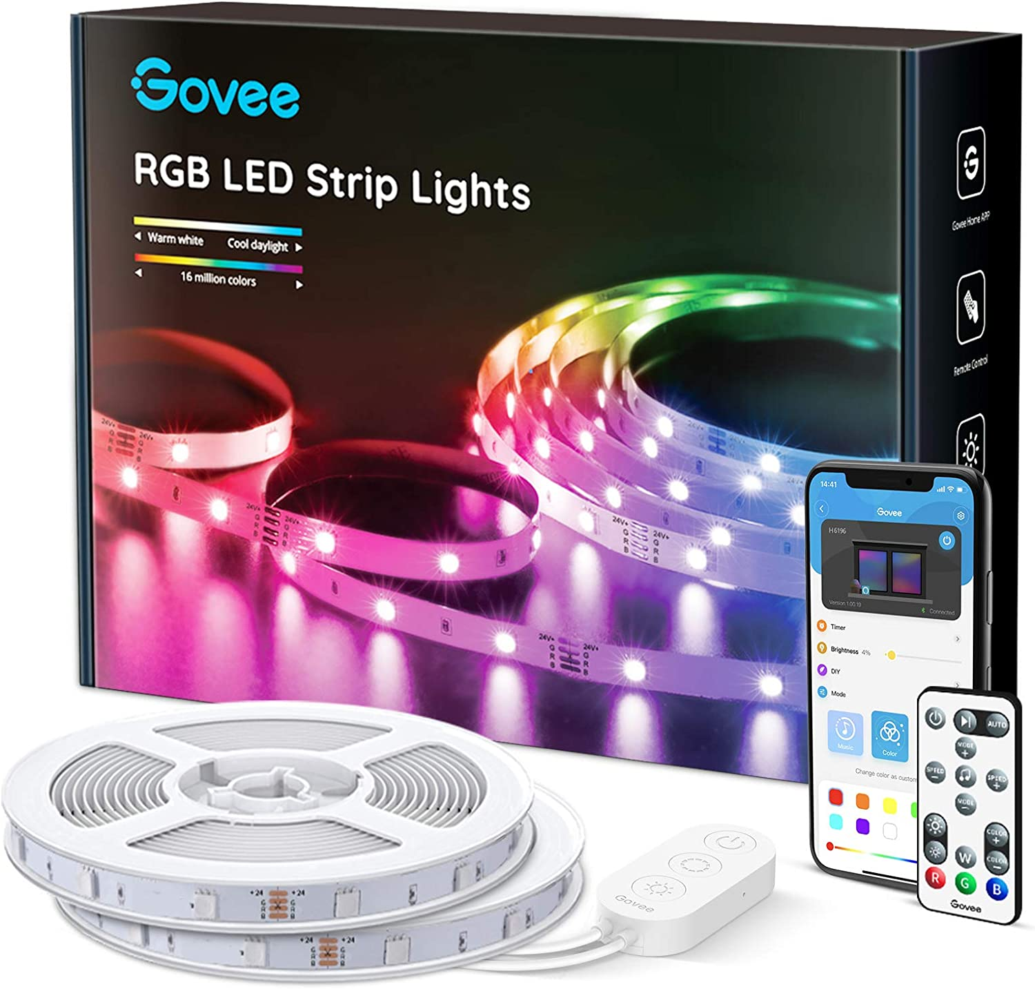 Govee 65.6ft LED Strip Lights, for Kitchen, Room