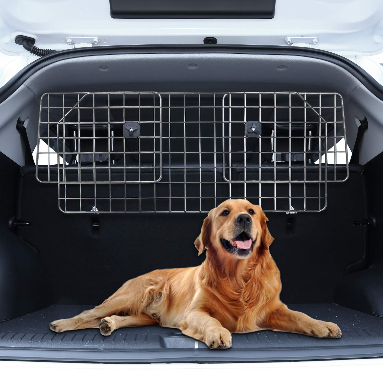 Sailnovo Dog Barrier for Car SUV Vehicles, Adjustable Pet Barrier Wire Mesh Dog Car Barrier for Cargo Area - Universal Fit by Sailnovo (Image #9)