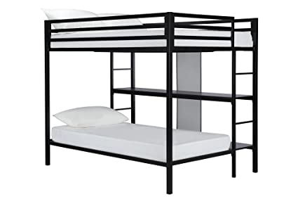 Amazon.com: DHP Full-Over-Twin Bunk Bed Frame with Two Ladders and ...
