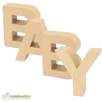 Papp-Buchstaben Set BABY ✓ Papp-Mache Deko-Buchstaben-Set ✓ XXL ...