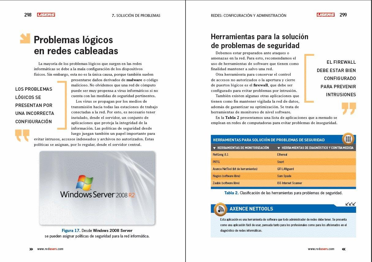 Redes: Configuración y administración: Manuales USERS (Spanish Edition): Users Staff, RedUsers Usershop, Español Espanol Espaniol, Libro libros Manual ...