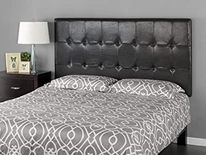 4e6a627337e0 Image Unavailable. Image not available for. Color  Zinus Faux Leather  Square Tufted Headboard ...