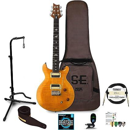 Paul Reed Smith se Santana guitarra eléctrica Kit (Santana amarillo) – incluye: sintonizador