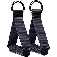 Hossom 1Paar Griffe für Widerstandsbänder,Silikongriffe mit massiven ABS-Kernen, Fitness-Zubehör für Kabelzug-Geräte