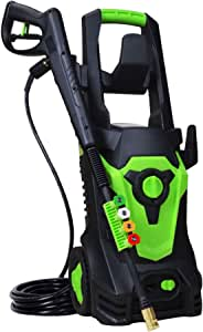 PowRyte 1800 Watt 15A Electric Pressure Washer,Power Washer,Spray Washer with 4 Spray Tips and Powerful Motor - 3500PSI 2.6GPM