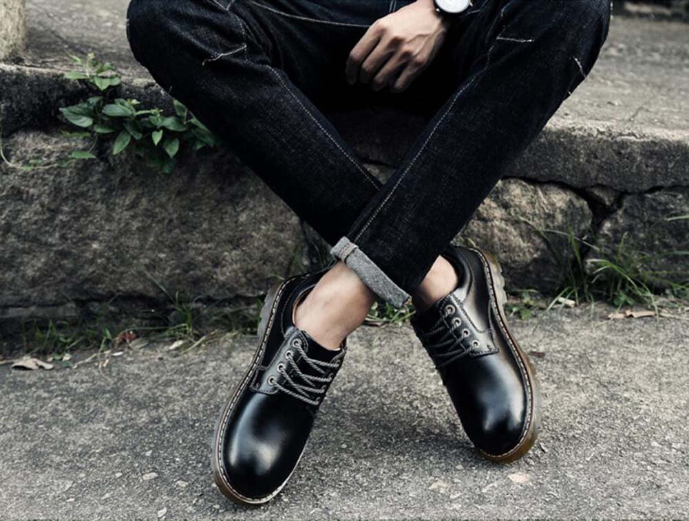Pump Business Casual Schuhe Kleid Schuhe Herren Gummi Herbst und Winter Runde Toe Schnürsenkel Anti-Rutsch Gummi Herren Sohle British Style Driving Schuhe Eu Größe 38-45 4c2541