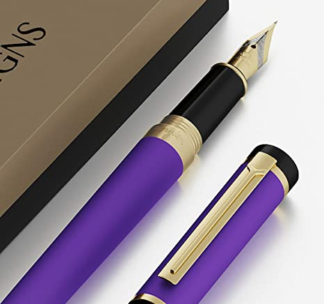 edb9b9675226 DRYDEN Luxury Fountain Pen [DECADENT PURPLE WITH GIFT BOX] - BEST Fountain  Pens Gift