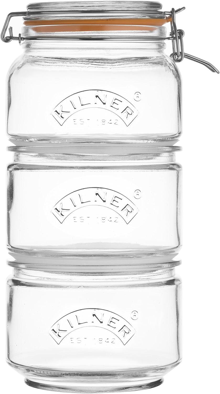 Kilner Tarro de Almacenamiento apilable Set, 17,5x 17,5x 32cm