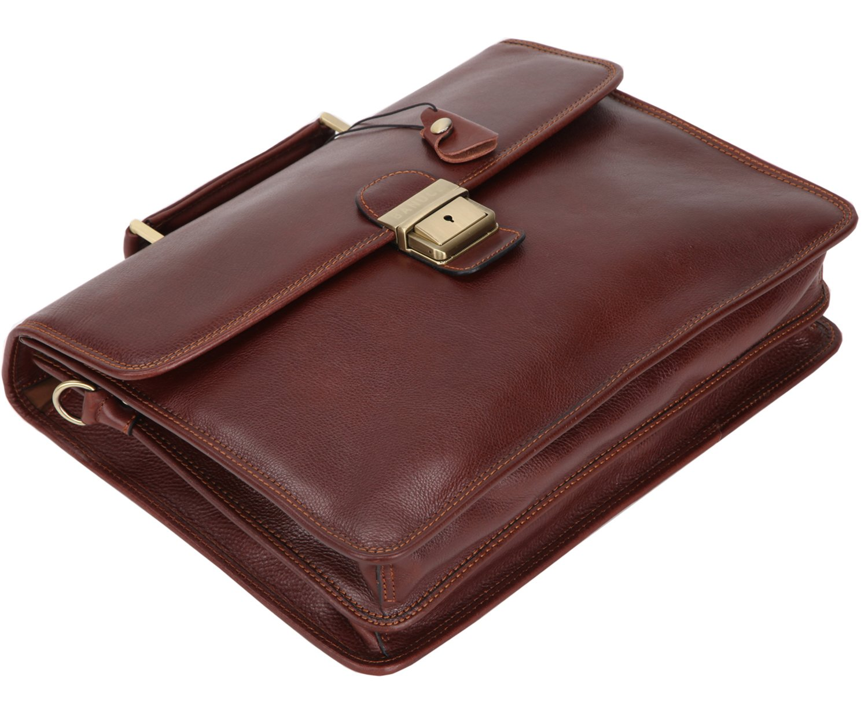 Banuce Vintage Full Grain Italian Leather Briefcase for Men Lock Lawyer Attache Case Business Tote 14 inch Laptop Shoulder Messenger Bag Dongguan Ront Industrial Co Ltd RTOFYBM002-BN