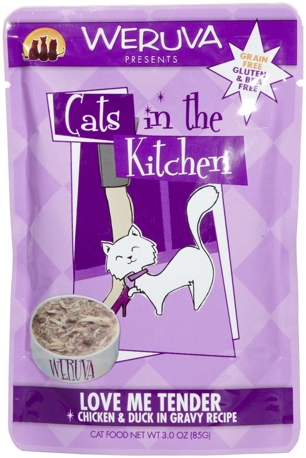 Weruva Cats in the Kitchen Love Me Tender  Cat Food Pouches 3 oz (8/box)