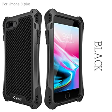 size 40 3aee5 94e69 iphone 8 plus Case,Bpowe Shockproof Drop Proof Dirt Proof Carbon ...