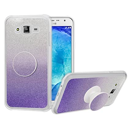 Amazon.com: Galaxy J5 Prime funda, niñas con purpurina lindo ...